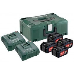 Pack 4 Batteries 18 volts + Chargeur ultra rapide